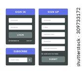 login  registration and... | Shutterstock .eps vector #309733172