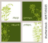 vector template label with hand ... | Shutterstock .eps vector #309735035