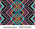 geometric ethnic pattern... | Shutterstock .eps vector #309741236