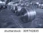 cold rolled steel coils in... | Shutterstock . vector #309742835