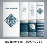 vintage islamicstyle brochure... | Shutterstock .eps vector #309743216