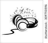headphone sketch | Shutterstock .eps vector #309753596
