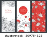 Set Of Vector Floral Banner...
