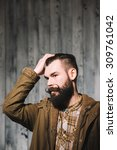 bearded man with great... | Shutterstock . vector #309761042