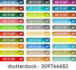colorful vector add to cart... | Shutterstock .eps vector #309766682