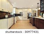 kitchen in luxury home   Shutterstock . vector #30977431