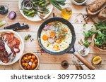homemade food background.... | Shutterstock . vector #309775052