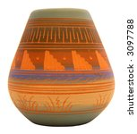Native American Southwest Pottery Vase - stock photo