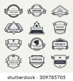 retro vintage label outline... | Shutterstock .eps vector #309785705