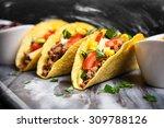 mexican food   delicious tacos... | Shutterstock . vector #309788126