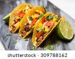 mexican food   delicious tacos... | Shutterstock . vector #309788162