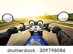 man driving on moto on big... | Shutterstock . vector #309798086