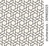 vector seamless pattern. modern ... | Shutterstock .eps vector #309802025