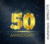 postcard 50 years anniversary...   Shutterstock .eps vector #309811775