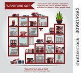illustration of office... | Shutterstock .eps vector #309819362
