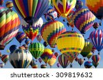 composite of hot air balloons... | Shutterstock . vector #309819632