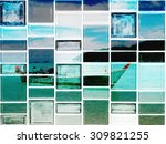 the graphic on tile    Shutterstock . vector #309821255