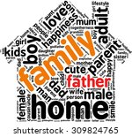 family info text graphics and... | Shutterstock .eps vector #309824765