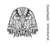 zentangle stylized eagle head.... | Shutterstock .eps vector #309829442