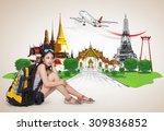 thailand travel concept  | Shutterstock . vector #309836852