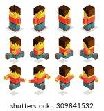 8 sided character set.... | Shutterstock .eps vector #309841532