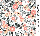 Abstract Flowers Seamless...