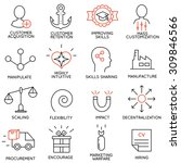 vector set of 16 icons related... | Shutterstock .eps vector #309846566