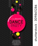 vertical black music party... | Shutterstock .eps vector #309865286