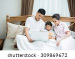asian family i was teaching... | Shutterstock . vector #309869672