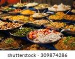 luang prabang buffet. | Shutterstock . vector #309874286