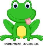 cute frog cartoon | Shutterstock .eps vector #309881636