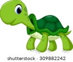 cute turtle cartoon | Shutterstock .eps vector #309882242