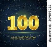 postcard 100 years anniversary... | Shutterstock .eps vector #309895232