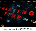 time concept  pixelated red... | Shutterstock . vector #309898916
