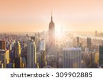 new york city. manhattan... | Shutterstock . vector #309902885