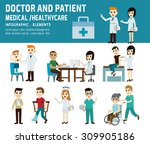 doctor and patient. healthcare  ... | Shutterstock .eps vector #309905186