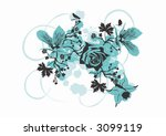 illustration of flowers | Shutterstock .eps vector #3099119