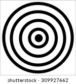 black target icon on a white... | Shutterstock .eps vector #309927662