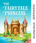 fairy tale princess and knight... | Shutterstock .eps vector #309934592