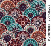 seamless abstract pattern of... | Shutterstock .eps vector #309936278