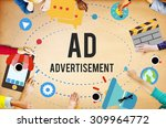 ad advertisement marketing... | Shutterstock . vector #309964772