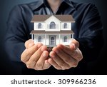 holding house representing home ... | Shutterstock . vector #309966236