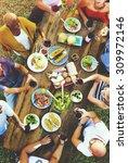 friends friendship outdoor... | Shutterstock . vector #309972146