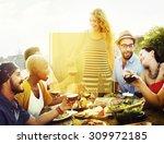 copy space frame summer... | Shutterstock . vector #309972185