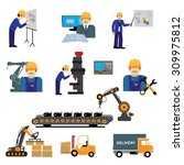 factory production process of... | Shutterstock .eps vector #309975812