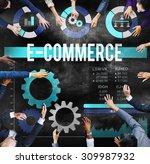 e commerce commercial... | Shutterstock . vector #309987932