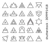vector set of triangle... | Shutterstock .eps vector #309991418