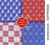 set of christmas seamless... | Shutterstock .eps vector #309994868