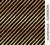 Small photo of Gold Stripes Faux Foil Metallic Black Background Striped Pattern Texture