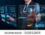businessman using technology... | Shutterstock . vector #310012835